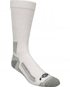 Carhartt Force® White Performance Work Crew Socks - 3 Pack