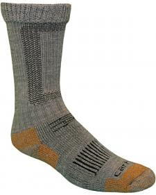 Carhartt Grey Merino Wool Comfort-Stretch Steel Toe Socks