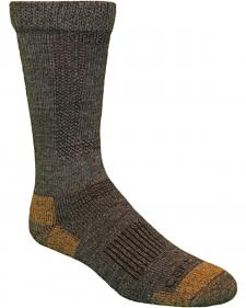 Carhartt Brown Merino Wool Comfort-Stretch Steel Toe Socks
