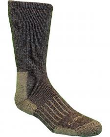 Carhartt Brown Full-Cushion Recycled Wool Crew Socks