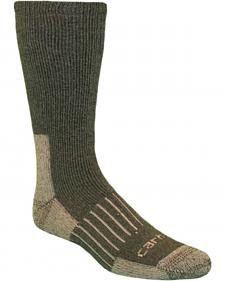 Carhartt Moss Full-Cushion Recycled Wool Crew Socks