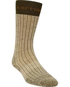 Carhartt Brown Steel Toe Arctic Wool Boot Socks