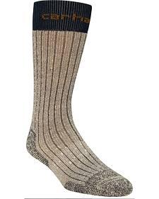 Carhartt Navy Steel Toe Arctic Wool Boot Socks