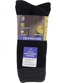 Carhartt Black Arctic Thermal Crew Socks - 2 Pack