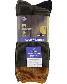 Carhartt Brown Arctic Thermal Crew Socks - 2 Pack