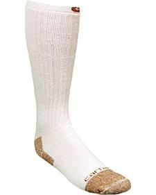Carhartt White Full Cushion Steel-Toe Cotton Work Boot Socks - 2 Pack