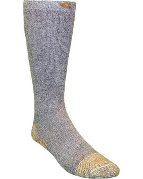 Carhartt Grey Full Cushion Steel-Toe Cotton Work Boot Socks - 2 Pack