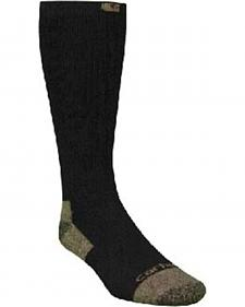 Carhartt Black Full Cushion Steel-Toe Cotton Work Boot Socks - 2 Pack