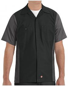 Red Kap Men's Crew Short Sleeve Shirt - Big & Tall