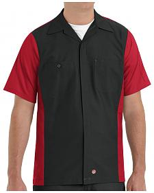 Red Kap Men's Crew Short Sleeve Shirt - Big & Tall
