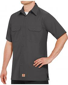 Red Kap Men's Solid Color Rip Stop Short Sleeve Work Shirt