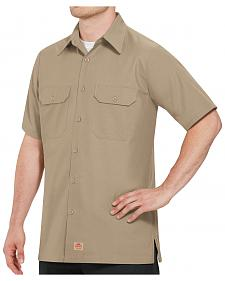 Red Kap Men's Solid Color Rip Stop Short Sleeve Work Shirt - Big & Tall