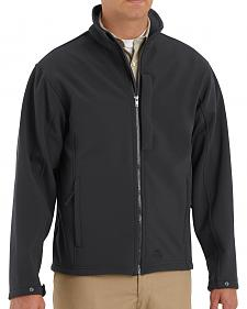 Red Kap Men's Black Soft Shell Jacket - Big & Tall
