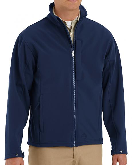 Red Kap Men's Navy Soft Shell Jacket - Big & Tall