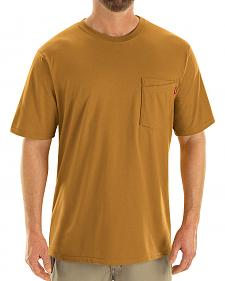 Red Kap Men's Brown Solid T-Shirt