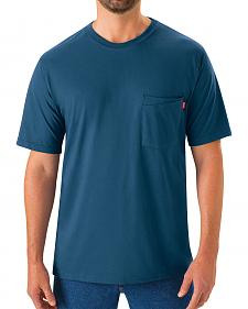 Red Kap Men's Enamel Blue Solid T-Shirt