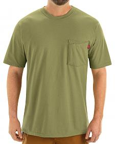 Red Kap Men's Moss Green Solid T-Shirt