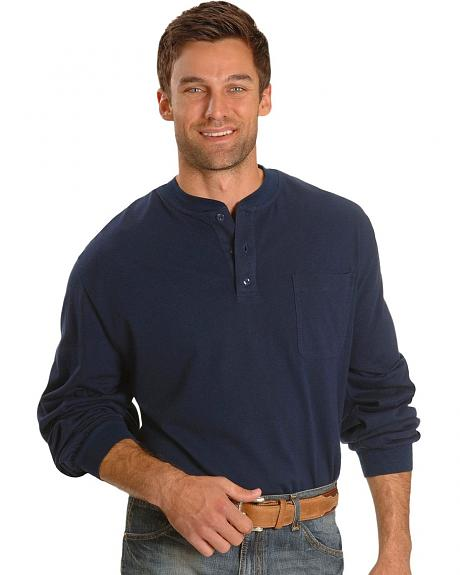 Key Industries Flame Resistant Henley Work Shirt
