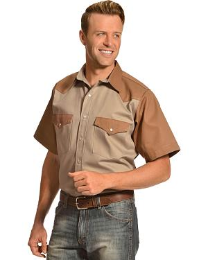 Gibson Trading Company Short Sleeve Colorblock Work Shirt