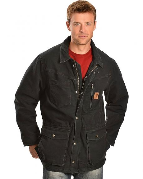 Carhartt Black Rancher Work Coat