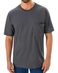 Red Kap Men's Safety Grey Solid T-Shirt