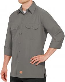 Red Kap Men's Solid Rip Stop Long Sleeve Work Shirt