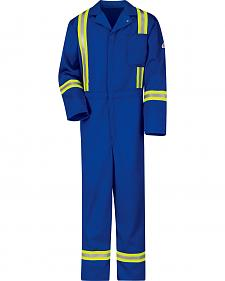 Bulwark Men's Royal Blue Flame Resistant Excel Reflective Coveralls
