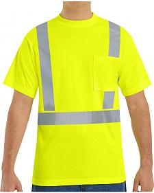 Red Kap Men's Hi-Visibility Short Sleeve Shirt