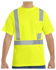 Red Kap Men's Hi-Visibility Short Sleeve Shirt - Big & Tall