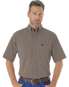 Wrangler Men's Dark Olive RIGGS Workwear® Chambray Work Shirt - Big and Tall