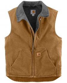 Carhartt Sherpa Lined Sandstone Duck Work Vest