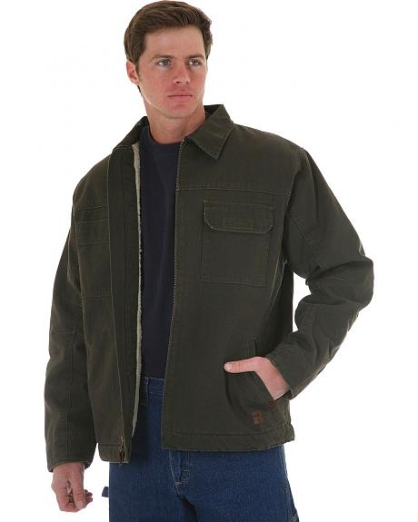Wrangler Riggs Faux Sherpa Lined Cargo Work Jacket