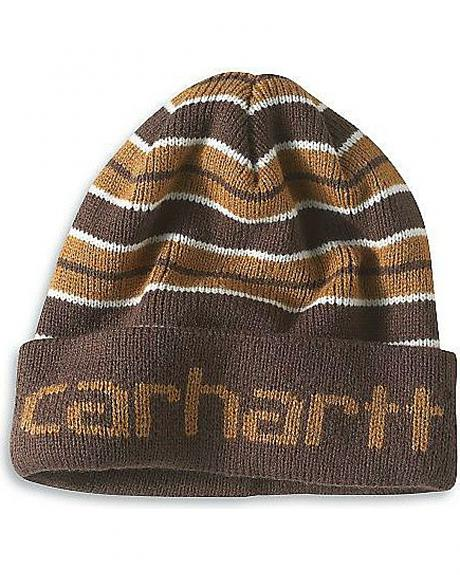 Carhartt Logo Striped Knit Hat