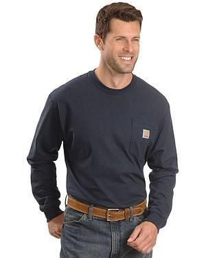 Carhartt Long Sleeve Pocket Work Shirt - Tall