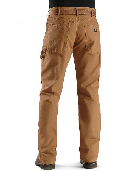 Dickies Relaxed Straight Fit Flannel Lined Carpenter Work Pants