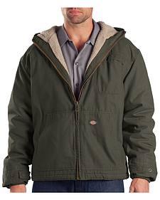 Dickies Hooded Sherpa Lined Work Jacket