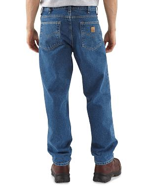 Carhartt Jeans - Dark Denim Relaxed Fit Work Jeans