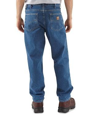 Carhartt Jeans - Dark Denim Relaxed Fit Work Jeans