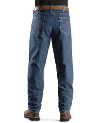 Carhartt Jeans - Dark Denim Relaxed Fit Work Jeans at Sheplers