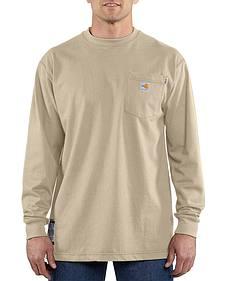 Carhartt Long Sleeve Pocket Fire Resistant Work Shirt