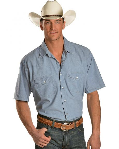 Exclusive Gibson Trading Co. Short Sleeve Chambray Work Shirt