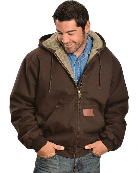 Exclusive Gibson Trading Co. Sherpa Lined Canvas Work Jacket