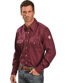 Wrangler Lightweight Flame Resistant Western Work Shirt