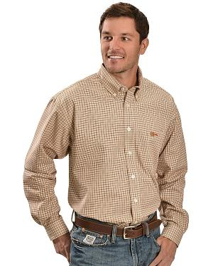Cinch � Flame Resistant Brown Plaid Work Shirt