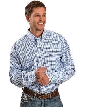 Cinch � Flame Resistant Blue Plaid Work Shirt