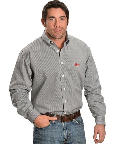 Cinch flame resistant black white stripe work shirt for Cinch flame resistant shirts