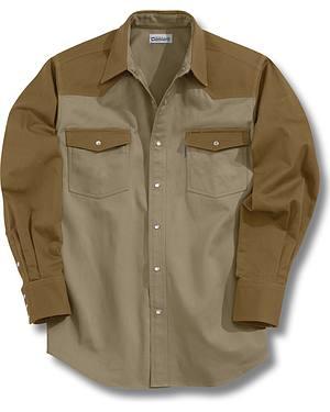 Carhartt Solid Cotton Twill Long Sleeve Work Shirt