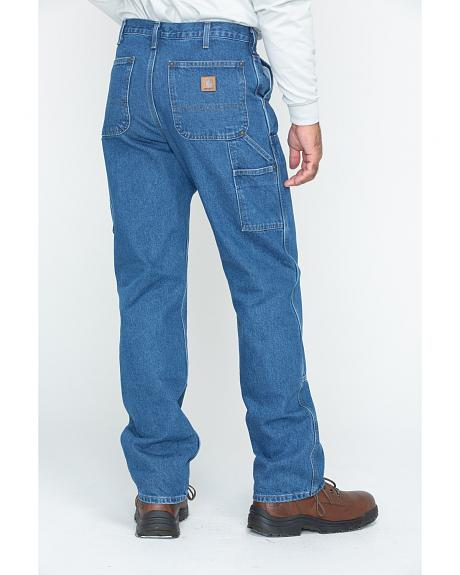 Carhartt Double Front Logger Washed Dungaree Work Jeans