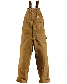Carhartt Duck Bib Unlined Overalls - Big & Tall