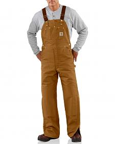 Carhartt Duck Bib Quilt Lined Overalls - Big & Tall